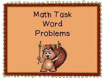 Fall Math Task Word Problems