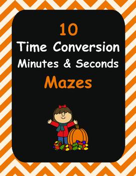 Fall Math: Time Conversion Maze
