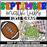 September Math Centers: First Grade (Football Themed)