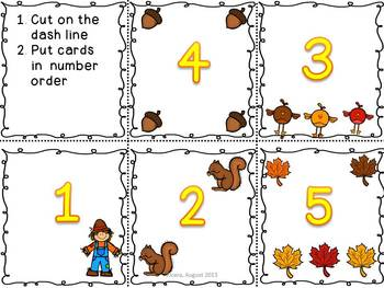 Fall Math Unit: Comparing and Ordering Numbers
