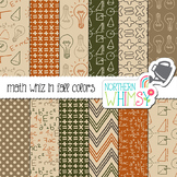 Fall Math Whiz Digital Paper for Crafts and Classroom Decor
