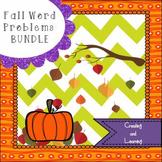 Fall Math Word Problem Bundle