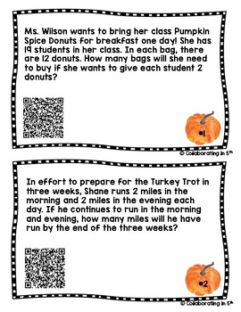 Fall Math Word Problem and Review SOL