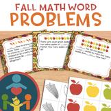 Fall Math Word Problems - Addition