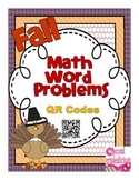 Fall Math Word Problems Booklet with QR Codes