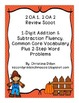 Fall Math Word Problems and Addition / Subtraction Strategies