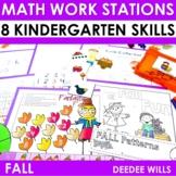 Kindergarten Math Centers ~ Fall