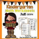 Kindergarten Math Worksheets - Fall