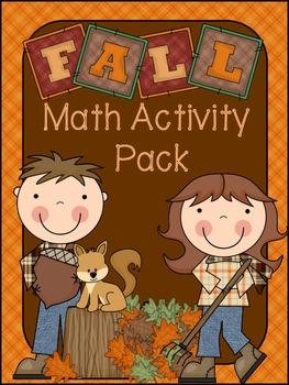 Fall Math Worksheet Pack
