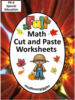 Fall Math Centers Cut and Paste  Math Centers Special Education Math