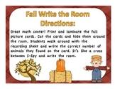 Fall Math Write the room
