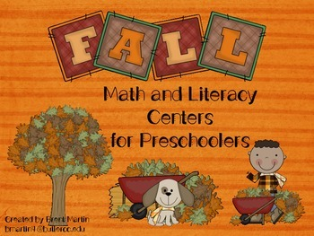Fall Math and LIteracy Pack for Preschoolers