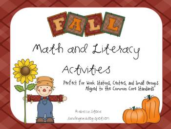 Fall Math and Literacy Activities {Aligned to the Common Core Standards}
