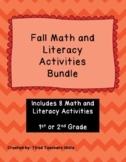 Fall Math and Literacy Activities Bundle -1st and 2nd Grade