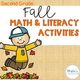 Fall Math and Literacy Activities - Second Grade