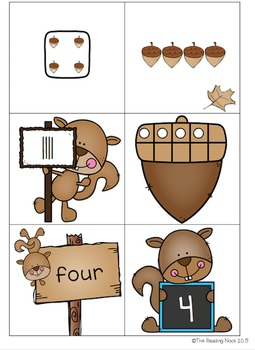 Fall Math and Literacy Bundle - Alphabet Letters, Number Sense, Colors, Shapes