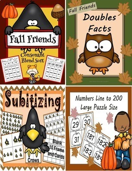 Fall Math and Literacy Activities Bundle