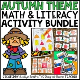 Fall Math and Literacy Bundle for Preschool