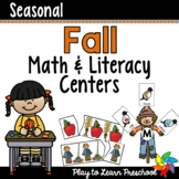 Fall Math and Literacy Centers