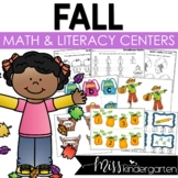 Fall Math and Literacy Centers {kindergarten}
