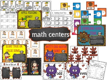 Fall Math and Literacy Centers (Johnny Appleseed goes to School)