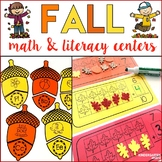 Fall Math and Literacy Centers - Kindergarten