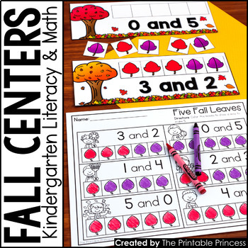 Kindergarten Fall Centers for Math and Literacy Activities