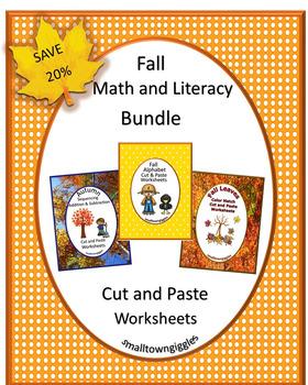 Fall Cut and Paste,Fine Motor Skills Activities,Special Education, Kindergarten