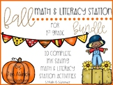 Fall Math and Literacy *Ink Saving* Station Activities
