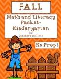Fall Math and Literacy-Kindergarten