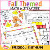 Fall Math and Literacy NO-PREP (Kindergarten - First)