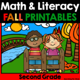 Fall Math and Literacy No-Prep {2nd Grade}