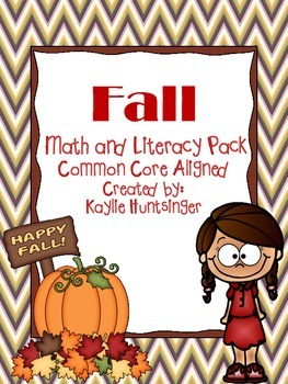 Fall Math and Literacy Pack NO PREP