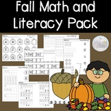 Fall Math and Literacy Packet