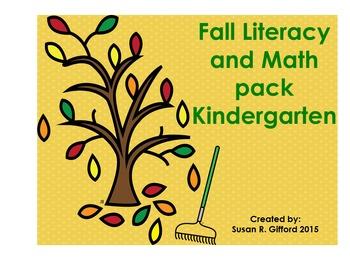Fall Math and Literacy Pack Kindergarten