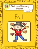 Fall Worksheets Emergent Reader Task Cards