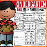 Fall Math and Literacy Packet NO PREP (Kindergarten)