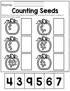 Fall Math and Literacy Packet NO PREP (Kindergarten) by ...