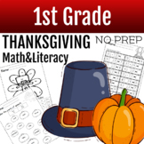 Thanksgiving Math Worksheets First Grade | Thanksgiving Literacy Activities