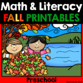 Fall No-Prep Packet {Preschool}