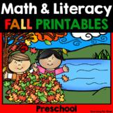 Fall Math & Literacy Printables {Preschool}