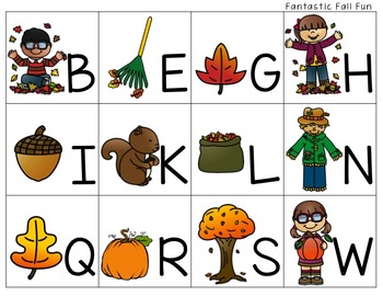 Fall Math and Literacy Stations