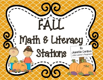 Fall Math and Literacy Stations Pack