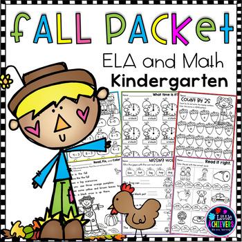 Kindergarten Math Worksheets and Literacy Worksheets - Fal