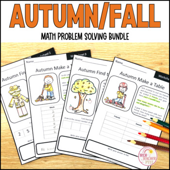 Autumn Fall Maths Problem Solving Bundle Part Part Whole, Number Line and more!