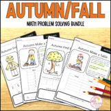 Autumn Fall Math Problem Solving Bundle Part Part Whole Number Line and Pattern