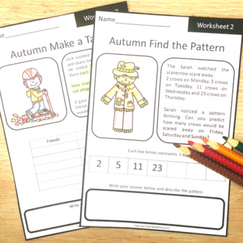 Autumn Fall Math Problem Solving: Find the Pattern & Make a Table