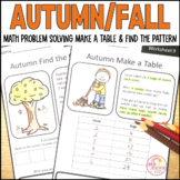 Autumn Fall Math Problem Solving Find the Pattern and Make