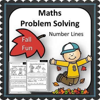 Fall Maths Problem Solving Number Line Strategy 10 Worksheets