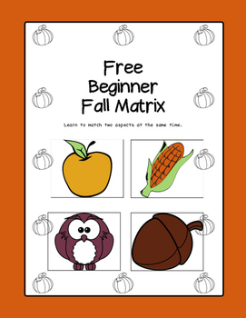 Fall Matrix Sorting Activity